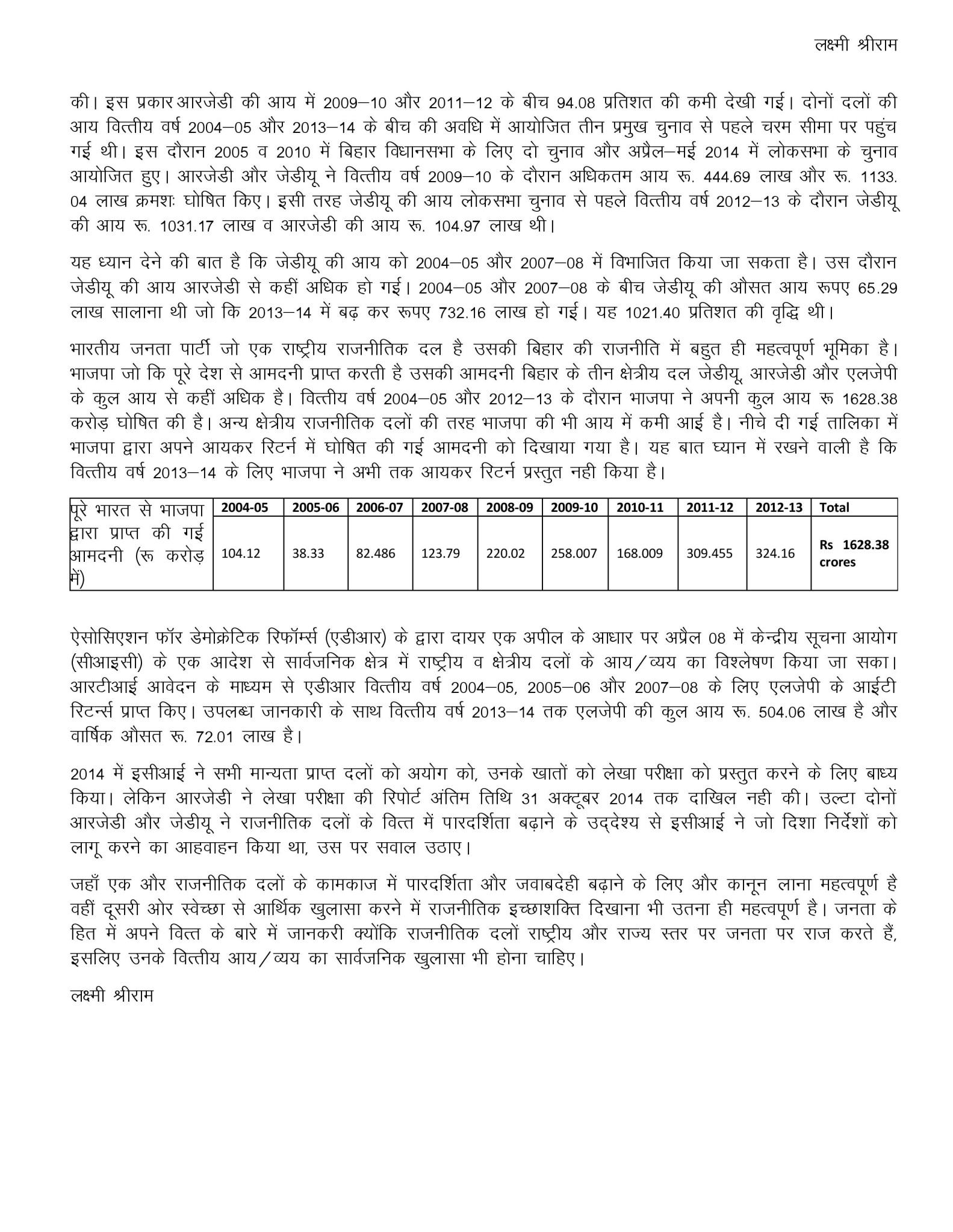 Income of Bihar s political parties in the past 10 years - Hindi-page-002